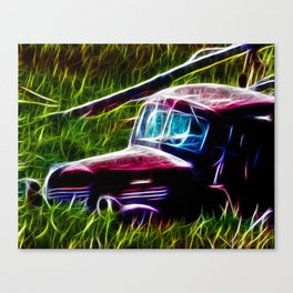 Truck Gone to Pasture Canvas Print