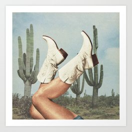 These Boots - Cactus & Yee haw Art Print