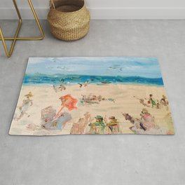 Beach on a Sunday in Deauville Rug