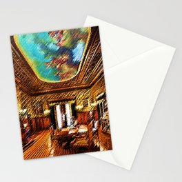 Chateau sur Mer Dining Room Watercolor - Newport Mansion Series - Jéanpaul Ferro Stationery Cards