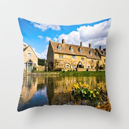 Lower Slaughter (The Cotswolds) Throw Pillow