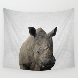 Rhino - Colorful Wall Tapestry