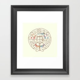 Vitruvian Turtle Framed Art Print