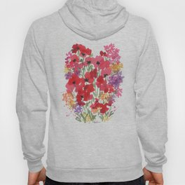 Little Red Poppy Patch Hoody