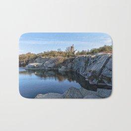 Autumn Quarry Landscape Bath Mat