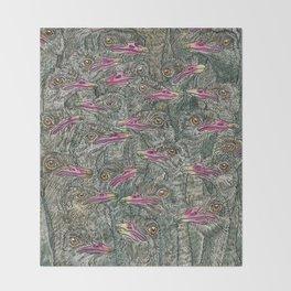 Ostriches Throw Blanket