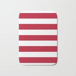 Cadmium purple - solid color - white stripes pattern Bath Mat