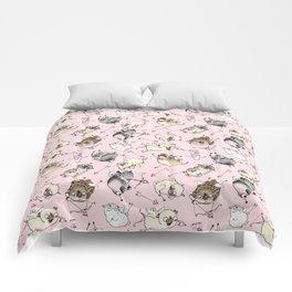 Love is in the Air - Cute Pug Cupids Comforters