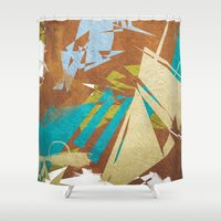 sin city Shower Curtains featuring sin by Rafael Igualada