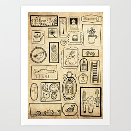 Frames II Art Print