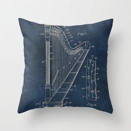 Ekman  Harp  patent art Throw Pillow