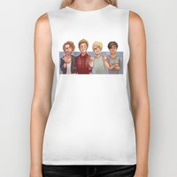 5 seconds of summer Biker Tanks featuring 5 Seconds of Summer by gabitozati