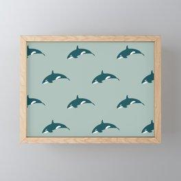 Orca (Aquatic) Framed Mini Art Print