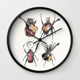 Meet the Beetles (white option) Wall Clock