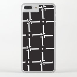 "Wallpaper - The Didot ""j"" Project Clear iPhone Case"