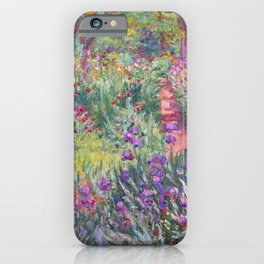 The Artist's Garden in Giverny by Claude Monet iPhone Case