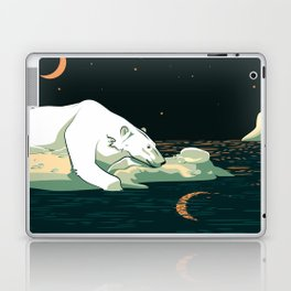 Polar Bear and the Moon Laptop & iPad Skin