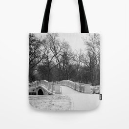 Winter Solitude - St. Louis Snowy Bridge Tote Bag
