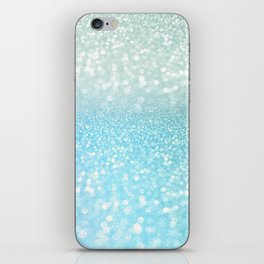 Mermaid Sea Foam Ocean Ombre Glitter iPhone Skin