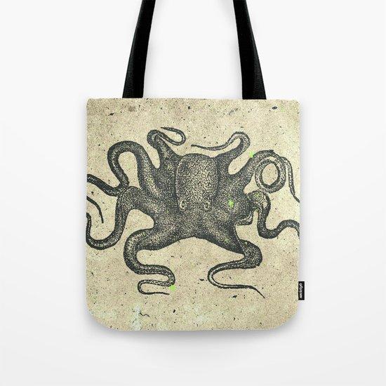 Black Brown Vintage Nautical Steampunk Octopus Tote Bag
