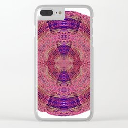 327 - Abstract Lighttrails Orb Design Clear iPhone Case
