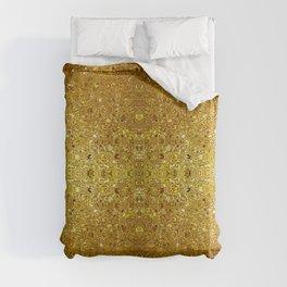 Deep gold glass mosaic Duvet Cover