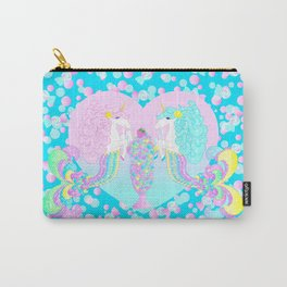 Mermicorn Twins Candy and Bubbles Carry-All Pouch