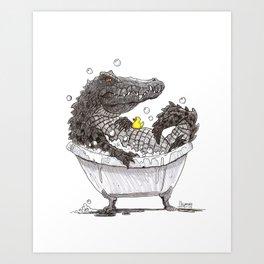 Bubble Bath (Pen & Ink) Art Print