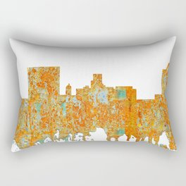 Augusta, Georgia Skyline - Rust Rectangular Pillow