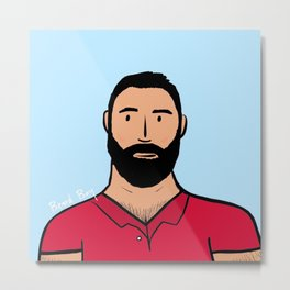 Beard Boy: Rafa Metal Print