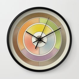 The theory of colouring - Diagram of colour by J. Bacon, 1866, Remake, vintage wash (no text) Wall Clock