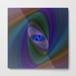 Elliptical fractal Metal Print