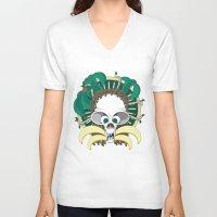 banana V-neck T-shirts featuring Banana by Albory