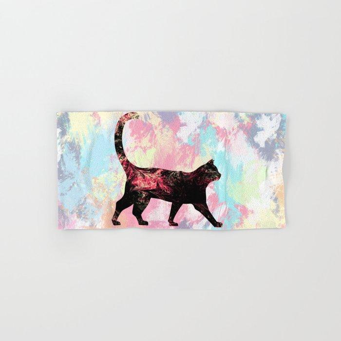 Abstract Cat Hand & Bath Towel