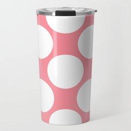 Polka Dots Pink Travel Mug