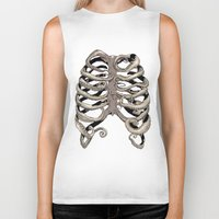 huebucket Biker Tanks featuring Your Rib is an Octopus by Huebucket