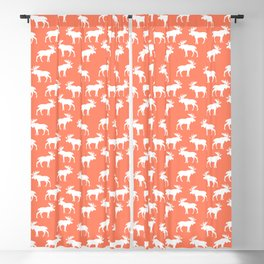 Moose Trot // Coral Blackout Curtain