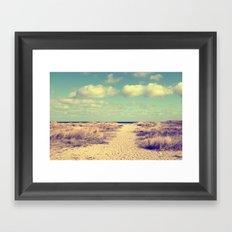 Beach whisper Impression Framed Art Print