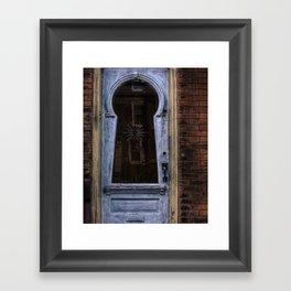 keyhole door. Framed Art Print