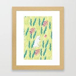 Sharkie - Lime Framed Art Print