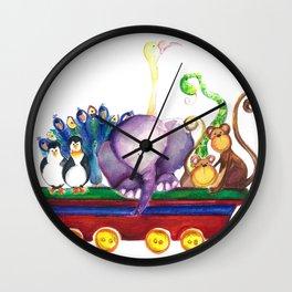 Animals wagon Wall Clock