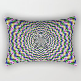 Crinkle Cut Psychedelic Pulse Alternative Color Rectangular Pillow