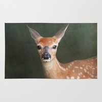 fawn Area & Throw Rugs featuring Fawn by Jai Johnson