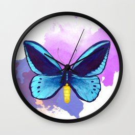Blueberry Breeze Wall Clock