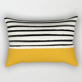 Fall Pumpkin x Stripes Rectangular Pillow