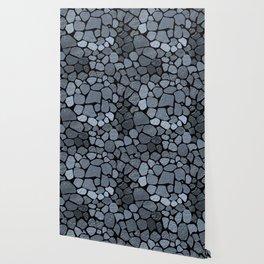 Blue stone texture Wallpaper