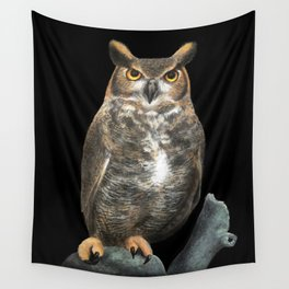 Superb Owl Sunday Wall Tapestry