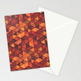 Seamless orange fashion retro hipster pattern Stationery Cards