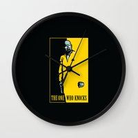 scarface Wall Clocks featuring The One Who Knocks by WinterArtwork
