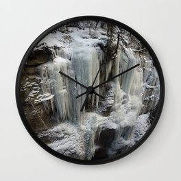 Maligne Canyon Ice Structures Wall Clock